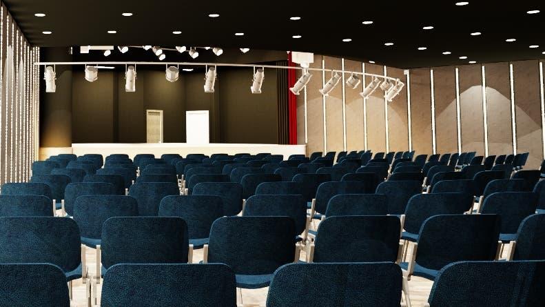 Studio Theater está ubicado en el segundo nivel de Acrópolis.