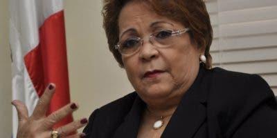 Alejandrina Germán, ministra de Educación Superior, Ciencia y Tecnología.