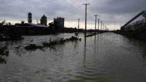 Las fotos suministradas por el CNLCC muestran parte de las oficinas del proyecto bajo agua.