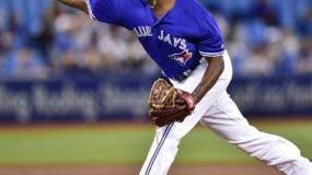 Carlos Ramírez en una de sus excelentes actuaciones de este año con los Azulejos de Toronto.