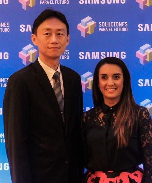 Fabián Ghim y Mónica Caicedo.