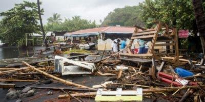 Parte de las destrucciones provocadas por el huracán María en Martinica, donde muchas personas perdieron sus viviendas y fue suspendido el servicio eléctrico.