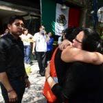 Las personas consternadas después del terremoto que sacudió la ciudad de México el 19 de septiembre de 2017
