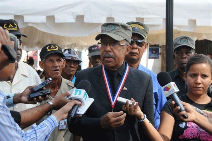 Andrés Fortunato, presidente de la Fundación de Militares y Combatientes Civiles Constitucionalistas del 24 de abril de 1965.