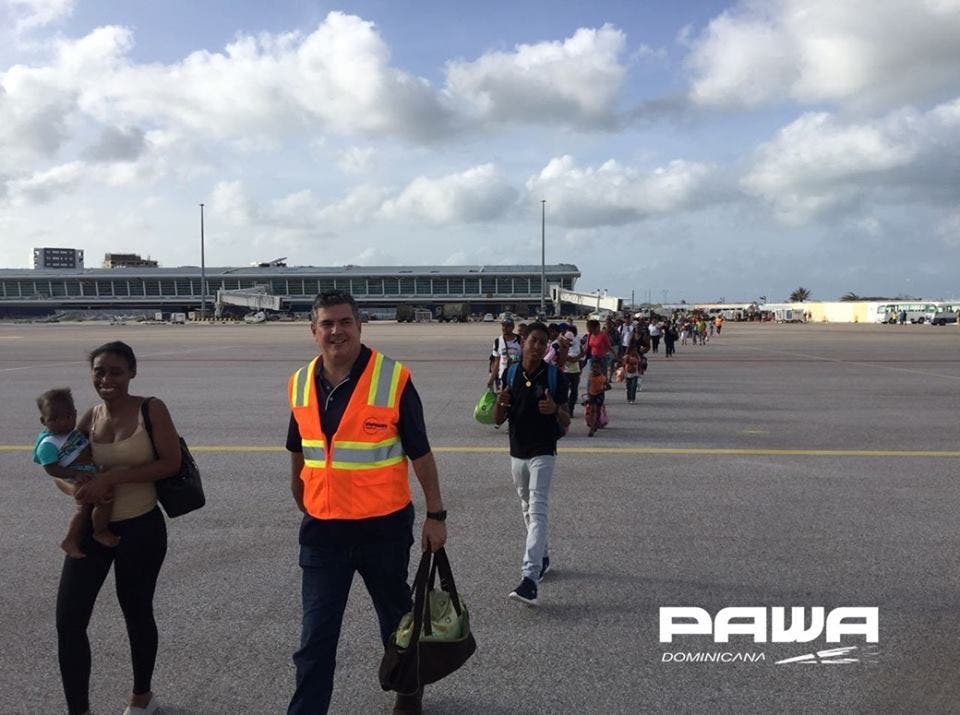 Los ciudadanos que se encontraban damnificados, fueron trasladados por la aerolínea como colaboración a la comunidad dominicana.
