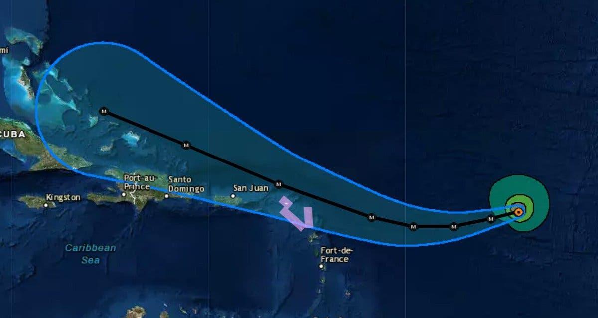 El huracán que afecta al Atlántico — Irma