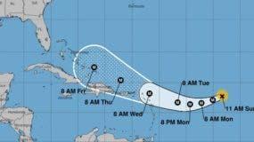 Trayectoria pronosticada del huracán Irma, actualizada a las 11:00 de la mañana.  Foto de Gloria Ceballos