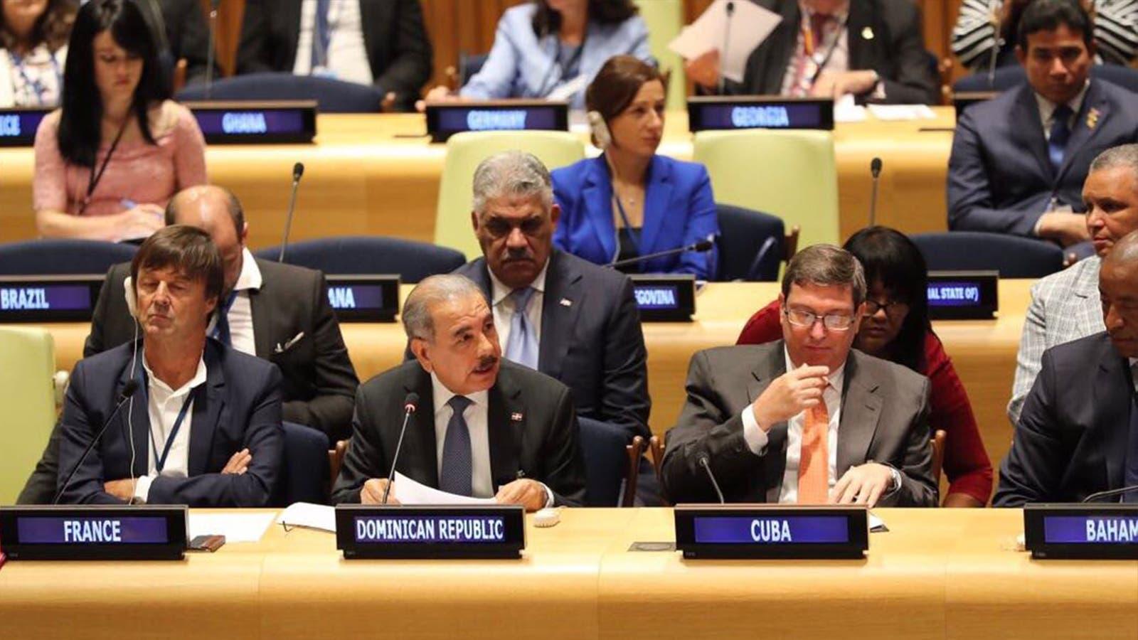 Presidente dominicano se reúne con el Secretario General Naciones Unidas
