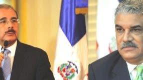 Desde la izquierda, Danilo Medina, Presidente de la República Dominicana y el Canciller Miguel Vargas