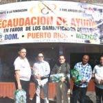 Dominicanos residentes en Nueva York demuestran solidaridad con las víctimas de los desastres naturales en México, Puerto Rico y República Dominicana.