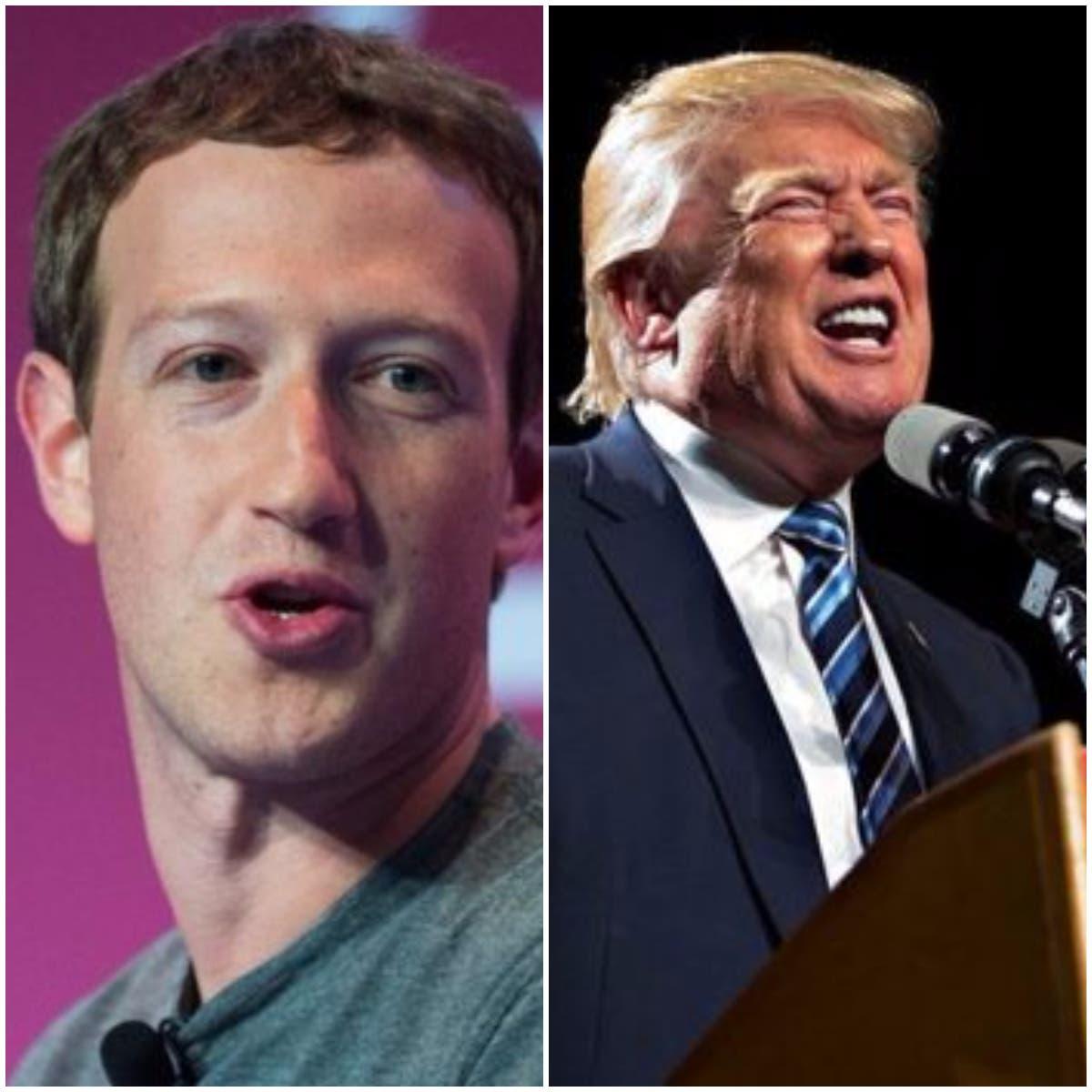 """""""Trump dice que Facebook está contra él... Y los liberales dicen que ayudamos a Trump"""", explicó el fundador de la red social."""
