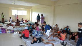 En el Distrito Nacional y otros lugares del país fueron habilitados albergues para las personas que residen en zonas vulnerables.