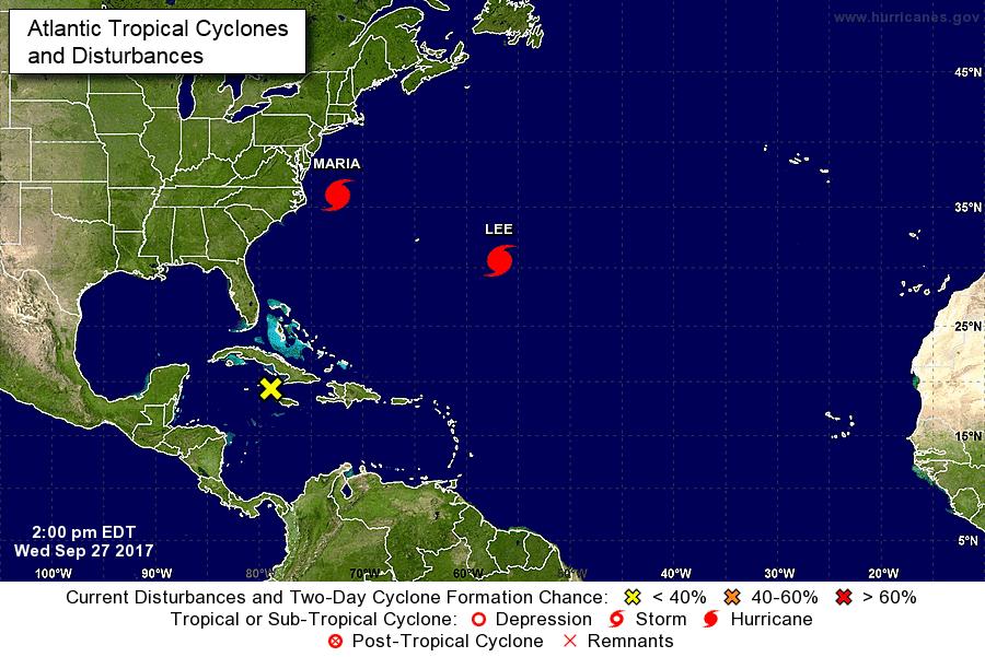 Lee se convierte en el quinto huracán de categoría mayor en el Atlántico