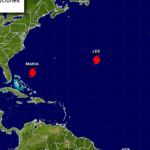 El oleaje oceánico generado por María está aumentando en partes de la costa suroriental de EE.UU