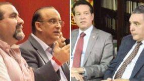 Federico Antún, Ramón  Rogelio Genao, Víctor Bisonó y José Hazim en lucha por el  PRSC.