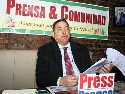 """El periodista Ramón Mercedes, presidente de """"Prensa & Comunidad"""" (Prenco) en Nueva York."""