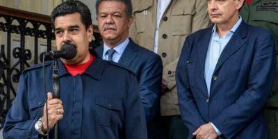 José Luis Rodríguez Zapatero, Leonel Fernández y Nicolás Maduro. Foto de archivo.