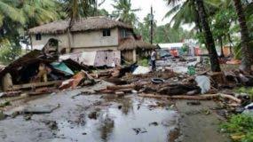 Las ráfagas de viento asociadas al huracán Irma causaron daños a decenas de viviendas en Nagua. Foto: El Día.