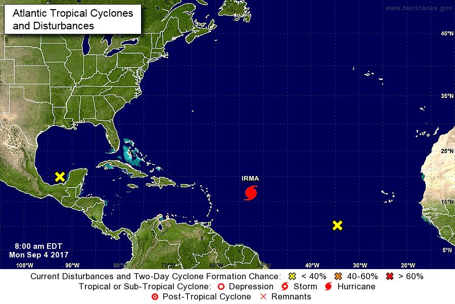 Aumentan los vientos del Huracán Irma, de categoría tres, según el NHC