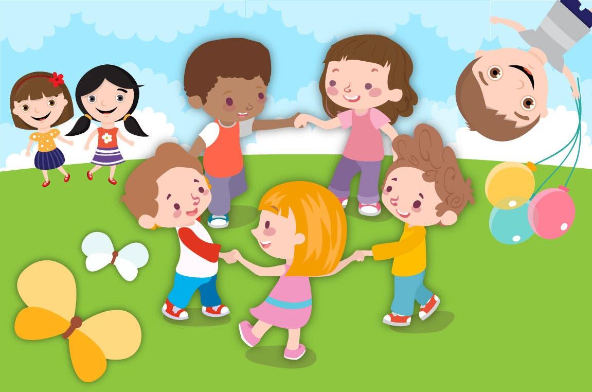 ninos-jugando-con-las-rondas-infantiles