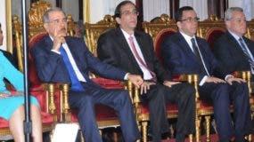 El presidente Danilo medina y la vicepresidenta Margarita Cedeño encabezaron el lanzamiento del  programa junto a funcionarios.