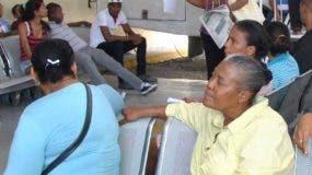 Pacientes en Vinicio Calventi.