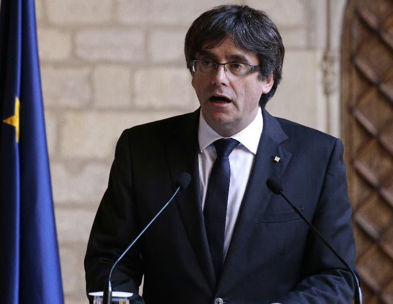 El presidente catalán,  Carles Puigdemont, está en Bélgica.