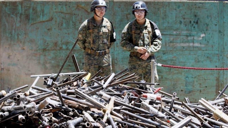 Autoridades chilenas destruyeron más de ocho mil armas de fuego