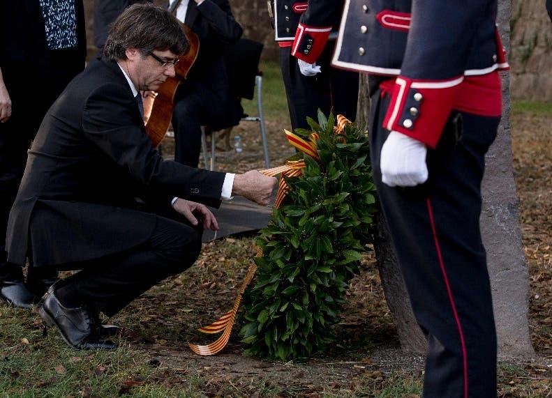 Carles Puigdemont rinde homenaje a  Lluís Companys.