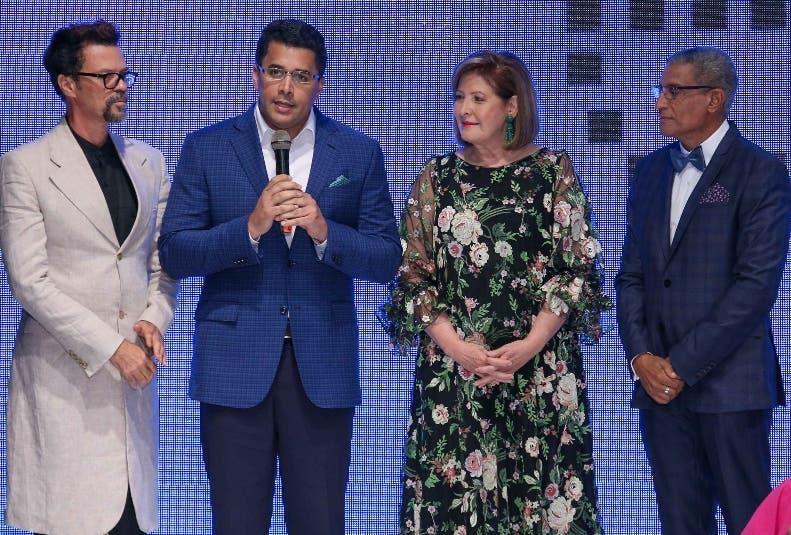 Sócrates Mckinney, David Collado, Mirka Morales y Fidel López.