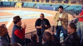 Danilo Díaz y Edi Medina reunidos con los organizadores.