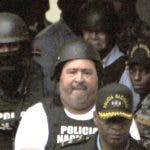 José Antonio Mercado Blanco y Manuel Rivas cuando eran trasladado desde la Fiscalía a la cárcel de San Luis.