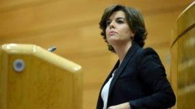 La vicepresidenta del gobierno español, Soraya Sáenz de Santamaría, está ahora oficialmente encargada de Cataluña.