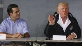Ricardo Rosselló, gobernador de Puerto Rico y Donald Trump, presidente de EE.UU.