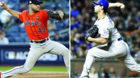 Lance McCullers Jr., de los Astros, y el japonés Yu Darvish, de los Dodgers, serán los abridores del tercer juego de la Serie Mundial.