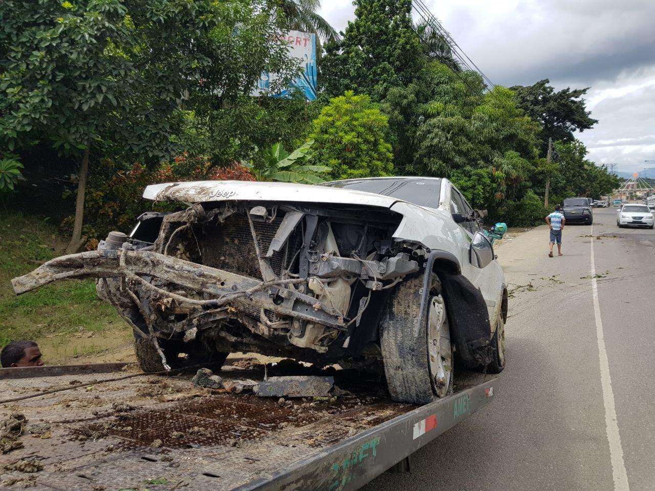 En esas condiciones quedó el vehículo tras el accidente.