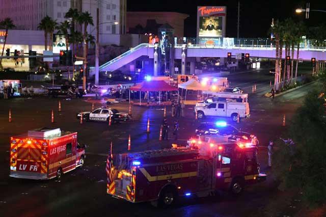 Las Vegas recibe a Donald Trump tras el tiroteo del domingo