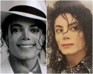 No, no estás viendo dos imágenes de Michael Jackson. El de la izquierda sí es el mítico artista fallecido en 2009, pero el de la derecha es Sergio Cortés, cuyas fotos se han hecho virales estos días en Internet por su increíble parecido con el Rey del Pop.