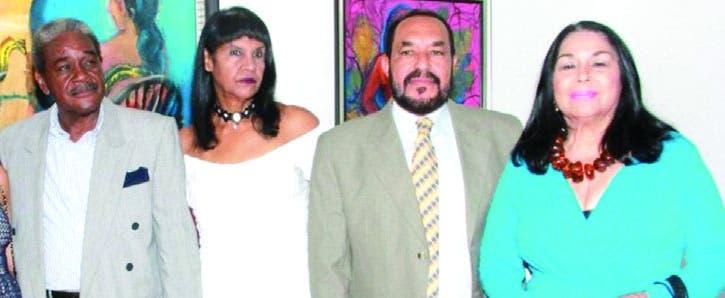 Los artistas plásticos que dieron vida a la muestra que tiene por casa el Ministerio de Cultura.