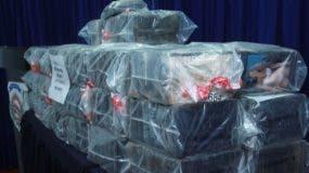 Los 229 paquetes fueron presentados  en la sede de la DNCD.