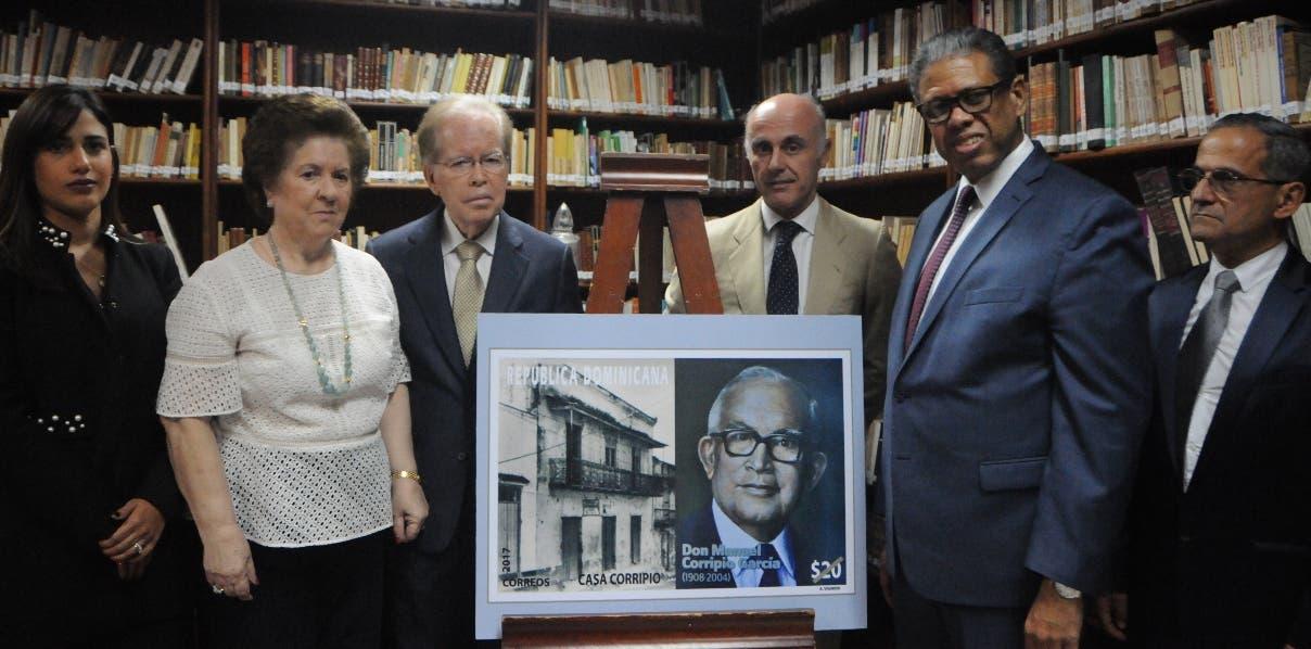 El homenaje a Manuel Corripio se realizó con motivo de los 100 años de la familia Corripio en el país.