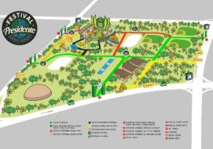 El mapa que guiará a las personas para entrar al Estadio.
