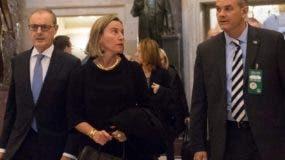 Federica Mogherini se reunió con legisladores norteamericanos.