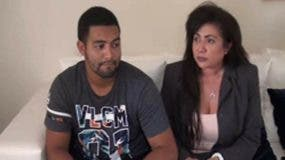Marlon Martínez acompañado de su madre Marlin Martínez. El joven está acusado de homicidio agravado y ella de ser su cómplice.