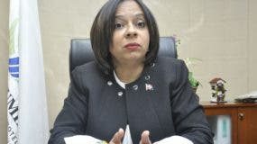 La directora de Proconsumidor Anina del Castillo.