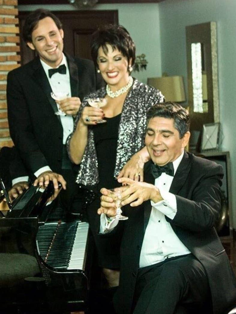 Cecilia García junto a José Lora (Checho)  y Mario Arturo.