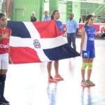 Aspecto de la inauguración del torneo intercolegial de voleibol.