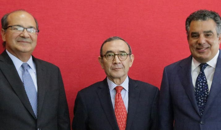 Jean Haché, Carlos Tirado Zavala y Enrique de Marchena Kaluche.