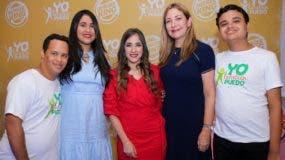 Anthony Hidalgo, Alexandra Bodden, María Esperanza Haché, Isabel Turull y Sergio Acosta.