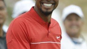 Tiger Woods en las  prácticas.